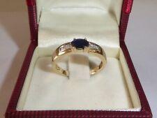 585 Gelbgold Gold Goldring Saphir Diamant Ring  Weihnachten RG 57 - 18 mm 1627