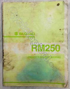 Suzuki RM125 2001 Genuine Owner's Service Manual Part No 99500-20212-01E