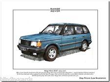 RANGE ROVER (P38) - 1994-2001 - Fine Art Print - A4 size picture