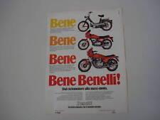 advertising Pubblicità 1981 BENELLI 125 SPORT/900 SEI