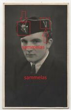 WK2 Foto Polen ? Mütze Abzeichen MYC & V Haselberg Ostpreussen 1943 N19