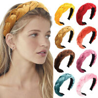 Women's Velvet Headband Hairband Twist Braided Knotted Hair Hoop Tie Accessories