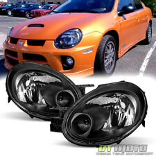 Black 2003 2004 2005 Dodge Neon Headlights Headlamp Replacement Left+Right 03-05