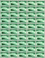 1946 - MERCHANT MARINE – Mint Never Hinged Sheet of 50 Vintage Postage Stamps