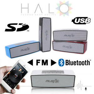 CASSA PORTATILE CON FM SD USB BLUETOOTH MP3 SMARTPHONE SPEAKER ALTOPARLANTE WS