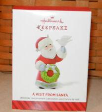 Hallmark 2014 Christmas Ornament A Visit From Santa Dove Wreath 6th & Final New