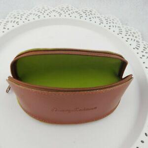 Tommy Bahama Sunglass Soft Case Pebble Leather Banana Shape Lime Lined Zip close