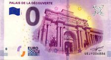 75008 Palais de la Découverte, 2019, Billet 0 € Souvenir