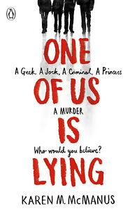 One Of Us Is Lying by Karen McManus NEW - Paperback Book!