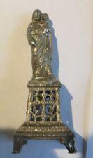 Mini statuette du christ avec Jésus en étain - France