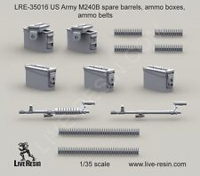 Live Resin 35016 1/35 US Army M240B Spare Barrels, Ammo Boxes, Ammo Belts