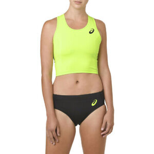 Asics Womens Active Bra Yellow Sports Gym Breathable Reflective Lightweight