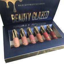 6Pcs Beauty Gold Mini Sexy Makeup Matte Liquid Lipstick Waterproof Lip Gloss kit