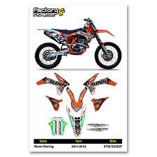 2011-2012 KTM SX/SXF Team Munn Racing Motocross Graphics Dirt Bike Graphic Decal