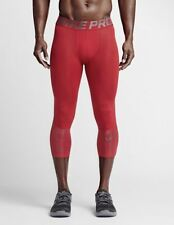 Nike Pro Hypercool Max 3/4 Men's Small Compression Training Running Tight Red