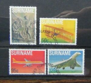 Suriname 1978 75th Anniversary of First Powered Flight set Fine Used