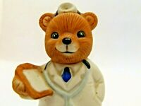 HOMCO Collectable  Porcelain Figurine Bear Doctor Stethoscope #8805 Vintage