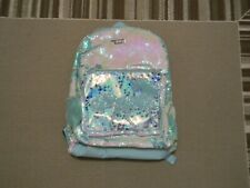 NWT JUSTICE GIRLS UNICORN FLIP SEQUIN SHAKY BACKPACK  MAGIC MINT