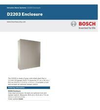 Intrusion Alarm Systems | D2203 Enclosure