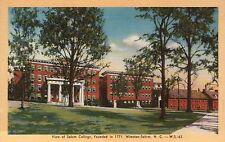 Salem College Winston-Salem, North Carolina NC --- Old Vintage Linen Postcard