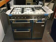 Smeg Symphony SY93 90cm Dual Fuel Range Cooker - Stainless Steel
