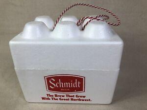 Vintage Styrofoam Beer Cooler Schmidt Beer 6 Pack Cooler Collectible