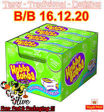 Wrigleys Hubba Bubba Bubble Gum Apple Flavour 7g - Pack of 20 (5 piece per pack)