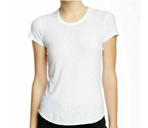 James Perse Women's Size 3 Crew Neck Short Sleeve Jersey Tee White NWT