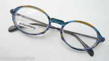 Brille Rahmen Gestell Kunststoff buntes Streifen Muster ovale Form GR M frame
