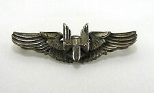 Vintage WW2 Military Aircraft Gunner Wings Sterling Silver Pin