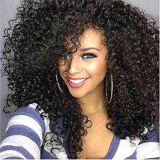 Damen Mode Afrika Gewellte Lockige Kurz Perücke Flaumig Schwarz Cosplay Wig