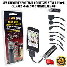 NUOVO Emergenza Portatile pocketsize Cellulari Caricabatterie Nokia, Sony, SAMSUNG, IPHONE