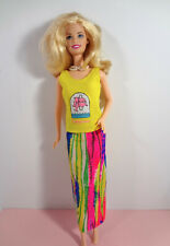Vintage Barbie Doll Clothes Mod Designed Full Length Skirt Sleeveless Top
