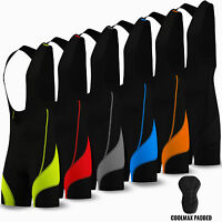 Cycling Bib Shorts Tights Cycle Bicycle Coolmax Anti-Bac Padded Mens All Sizes