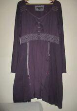 Purple Joe Browns Boho Tunic  Button Front Dress, Size 16 UK