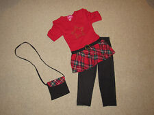 """NEW """"RED STAR"""" Plaid Capri Pants Girls 4 Spring Summer Clothes Boutique Kids"""