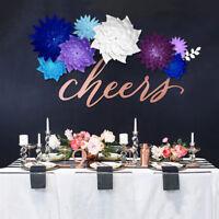 20cm DIY Paper Flowers Leaves Backdrop Decor Kids Birthday Party Wedding Favor