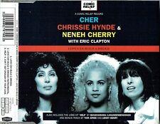 "CHER CHRISSIE HYNDE NENEH CHERRY + ERIC CLAPTON - 5""CD-Love Can Build A Bridge"