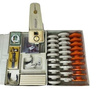 Sears Kenmore Sewing Machine Accessories & Buttonholer & Set 30 Pattern Cams