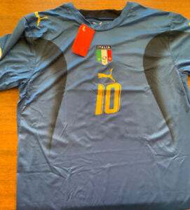2006 ITALY / PUMA ADULT XLARGE TOTTI NUMBER 10 World Cup Champs!!! New W/ Tags