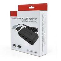 GameCube NGC Controller USB Adapter Converter 4 Ports For Nintendo Wii U PC