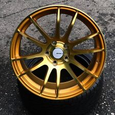 18x8.5 AVID1 AV-20 AV20 5x114.3 33 Metallic Gold Wheels Rims Set(4)