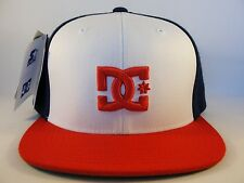 DC Shoes Snapback Hat Cap Starter White Red Navy