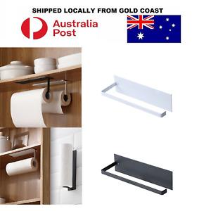 Paper Towel Holder Hanger Rack Kitchen Shelf Organizer Under Cabinet Roll Cup