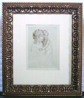Mary Cassatt Etching Drypoint Mother Child c 1905