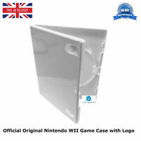 3 x Official Original Nintendo WII Game Case White Replacement Cover with Logo