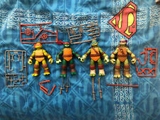 Nickelodeon 2012 TMNT Leo Donnie Raph Mikey LOT Complete Collector Owned Turtles