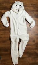 BNWT ladies 'small' white cat Topshop all-in one jammie suit