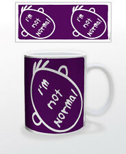 I´M NOT NORMAL 11 OZ COFFEE MUG TEA CUP FUNNY SPECIAL INDIVIDUAL PURPLE FACE FUN