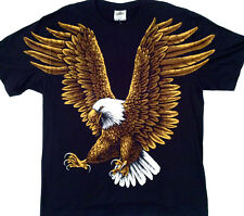 "American Bald Eagle  LARGE PRINT Tee  2 side print  2X Large 46"" -48"" TEE RED005"